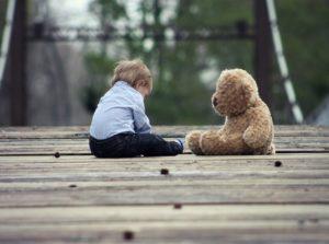 baby, teddy bear, play