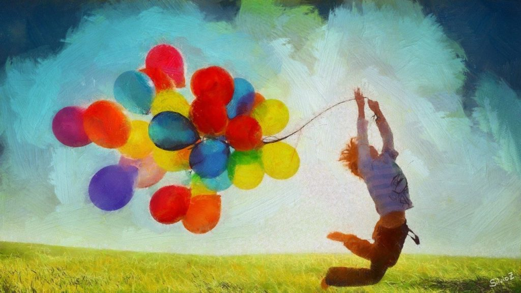 balloons, spring, nature
